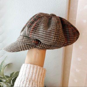 plaid baker cap
